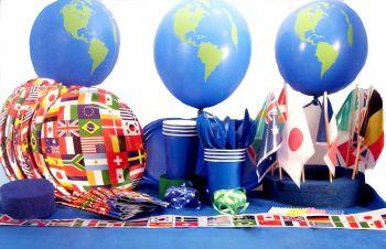 Bounce houses atlanta moonwalks rentals atlanta bounce for Around the world party decoration ideas